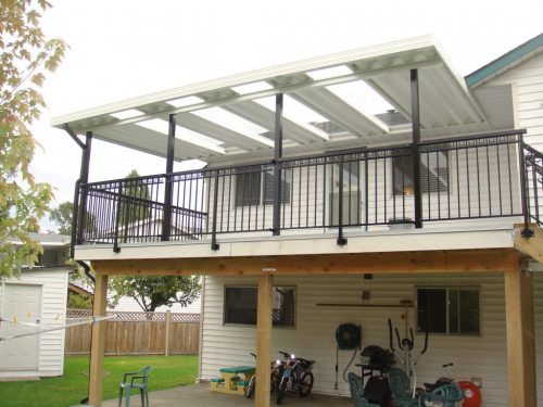 Front View ~ Fascia Mount Railings & Canopy