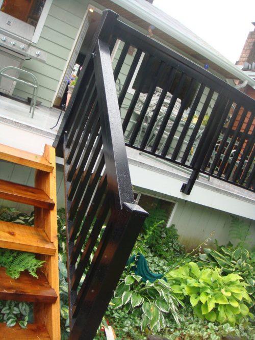 Cedar Stairs & Railing