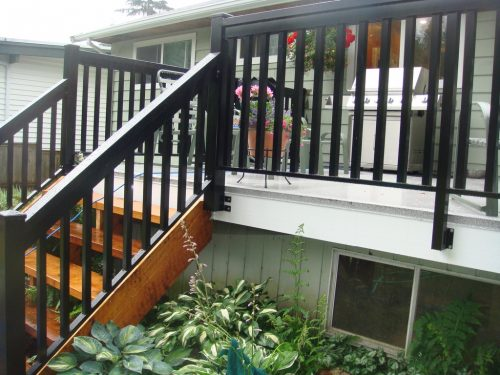 Fascia Mount Wide Picket Railings