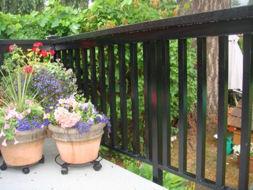 Wide Picket Aluminum Railing Close Up