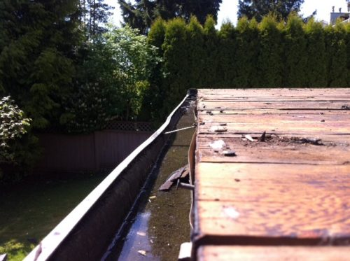 Edge of deck before