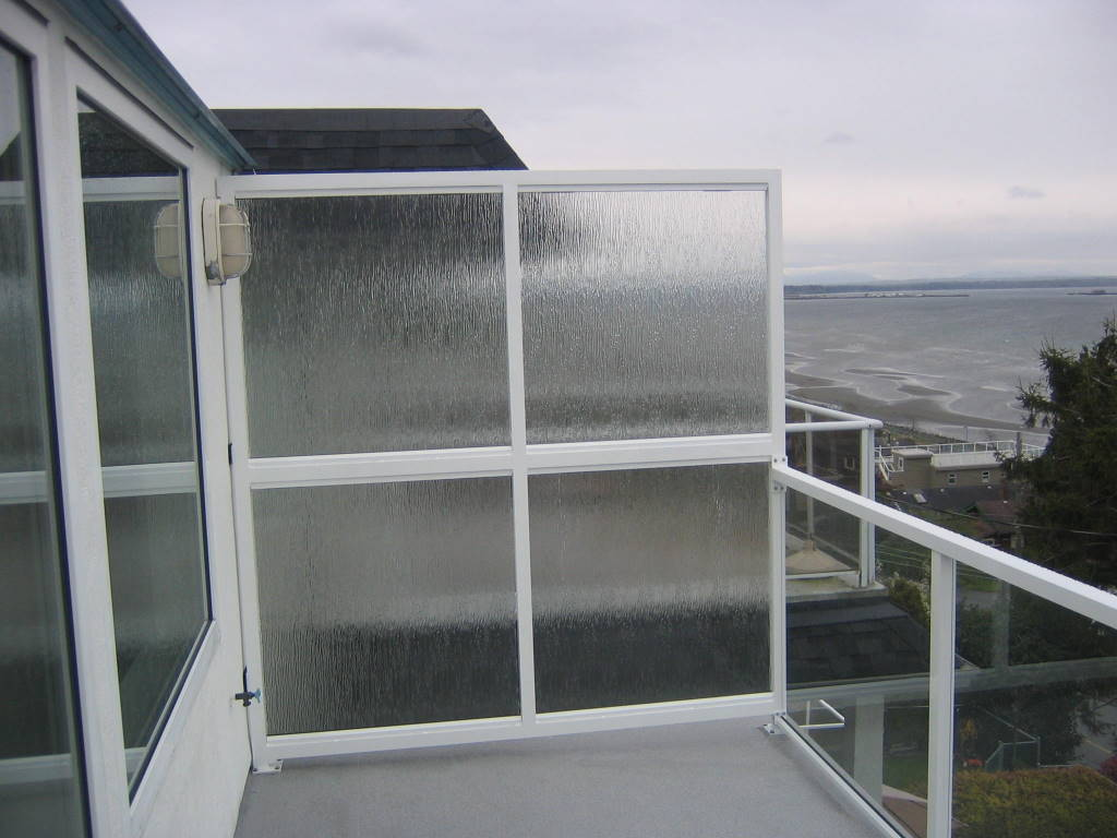 Patio Privacy Glass Panel