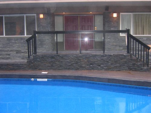 Glass Rail by pool