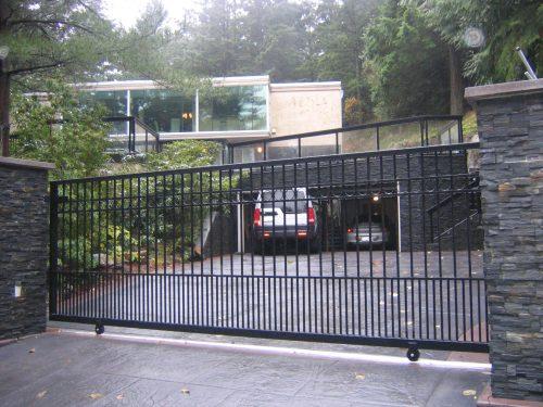 Sliding Aluminum Gate