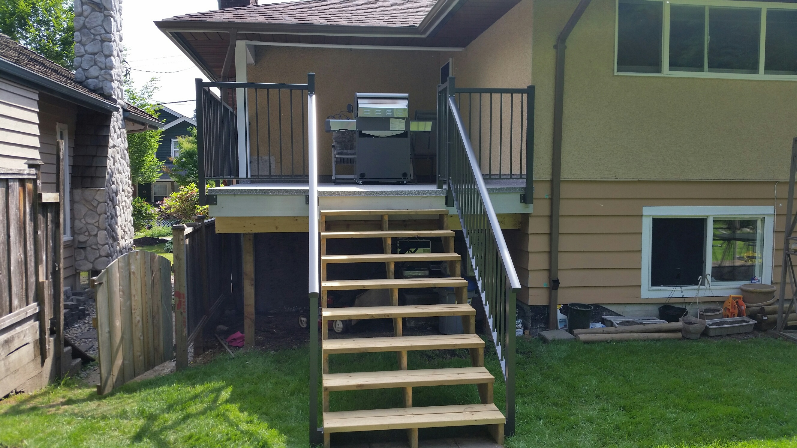 Concrete Landing Reno Deck Pros Construction Amp Railing