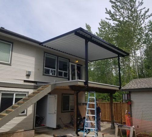 Full Aluminum Panel Canopy - Black _ White Combo