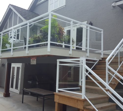 Railing Style #19 - Double top Glass