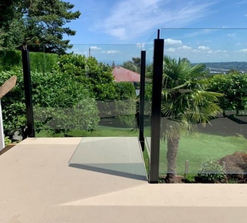 Railing Style #22 - Topless Glass Railing with Posts (1)