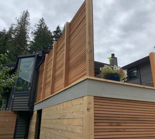 Railing-Style-#24---Cedar-Privacy-Wall