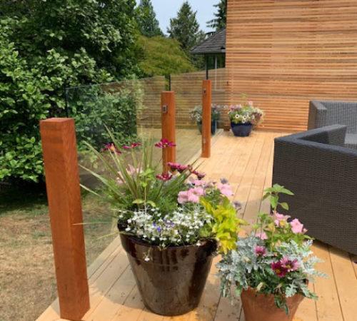 Railing-Style-#24---Cedar-Privacy-Wall-+-Topless-Glass-Railing