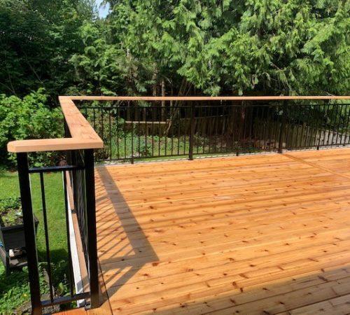Railing Style #7 - Cedar Top