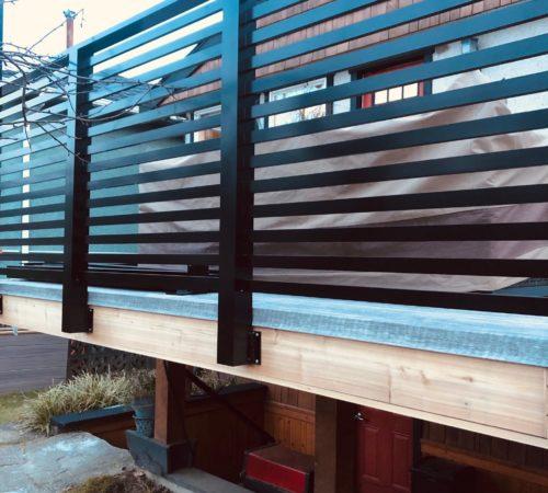 Railing Style #9 - Horizontal Picket Flat Top